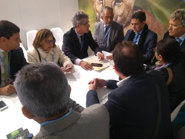 Senadores Lídice da Mata, Jorge Viana e João Capiberibe, formam a delegação brasileira que participa da conferência da Organização das Nações Unidas sobre o clima
