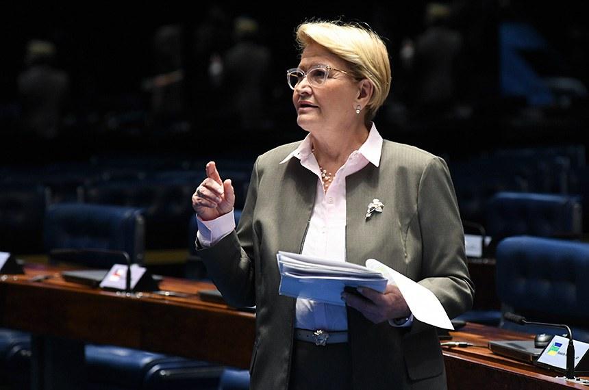 Plenário do Senado Federal durante sessão deliberativa ordinária.  Em pronunciamento, senadora Ana Amélia (PP-RS).   Foto: Jefferson Rudy/Agência Senado