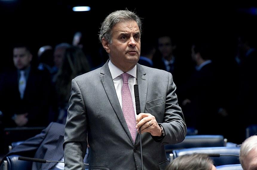 Plenário do Senado Federal durante sessão deliberativa ordinária. Ordem do dia.  À bancada, senador Aécio Neves (PSDB-MG).  Foto: Waldemir Barreto/Agência Senado