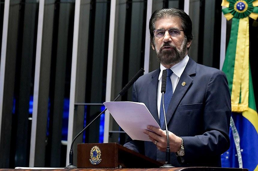 Plenário do Senado Federal durante sessão deliberativa ordinária.   Em discurso, senador Valdir Raupp (MDB-RO).  Foto: Waldemir Barreto/Agência Senado