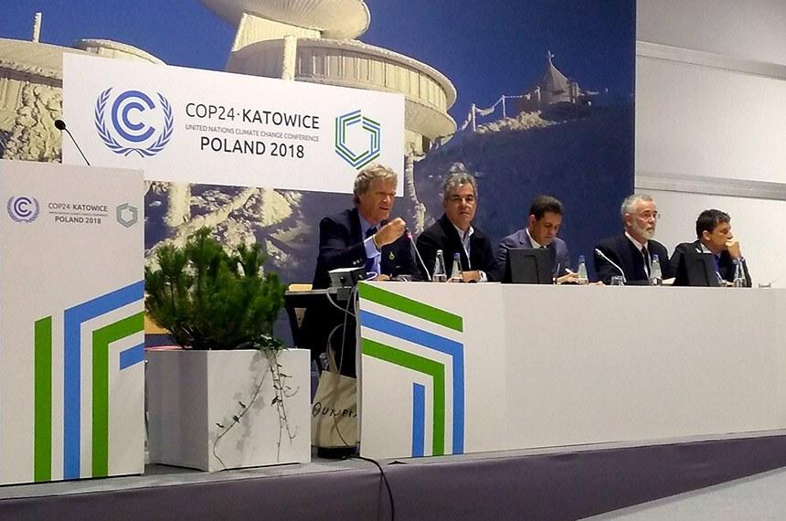 Parlamentares brasileiros participam da 24ª edição do encontro da Conferência das Partes (COP24) das Nações Unidas. O evento ocorre na cidade de Katowice, na Polônia.