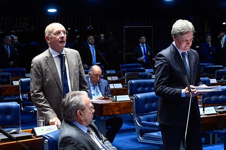 Plenário do Senado Federal durante sessão deliberativa extraordinária.   À bancada em pronunciamento, senador Paulo Bauer (PSDB-SC).  Foto: Marcos Oliveira/Agência Senado