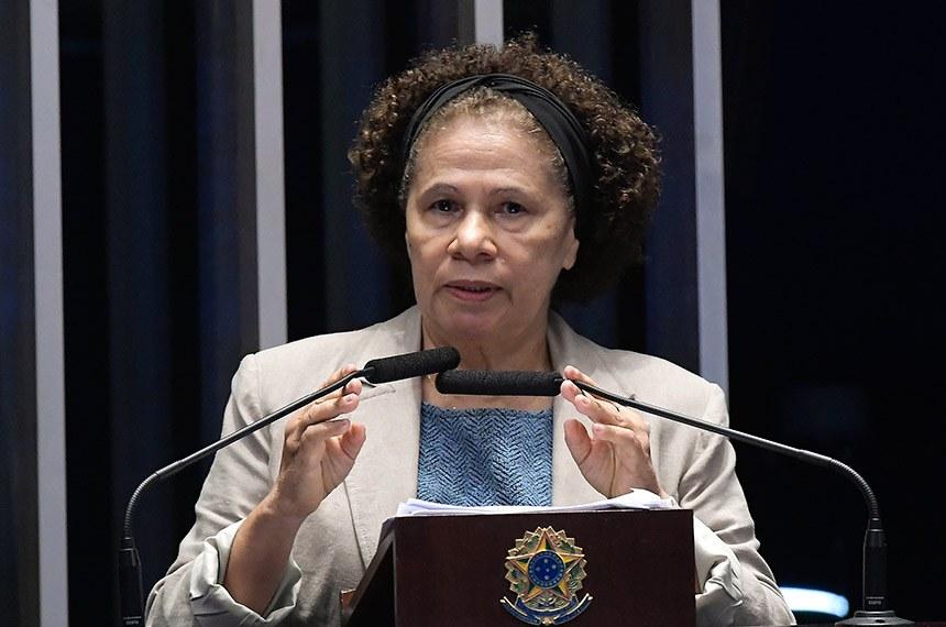 Plenário do Senado Federal durante sessão deliberativa extraordinária.   Em discurso,  senadora Regina Sousa (PT-PI).   Foto: Waldemir Barreto/Agência Senado