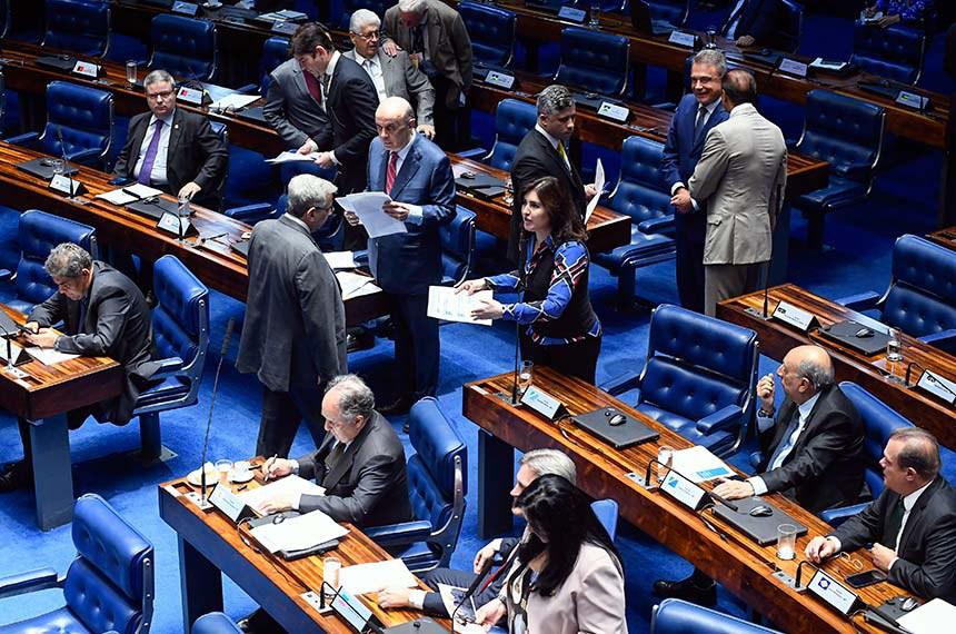 Plenário do Senado Federal durante sessão deliberativa ordinária. Ordem do dia.  Em pronunciamento, senadora Simone Tebet (MDB-MS) à bancada   Foto: Marcos Oliveira/Agência Senado