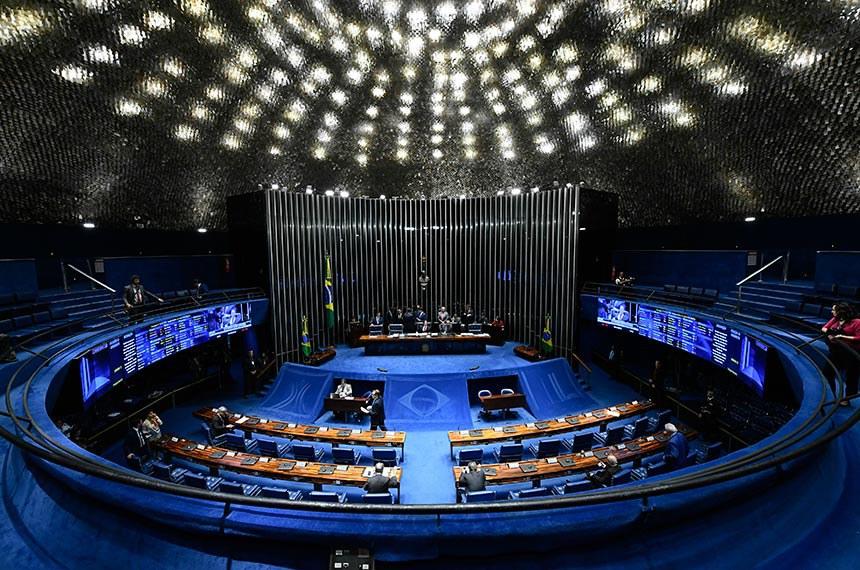Plenário do Senado Federal durante sessão deliberativa ordinária. Ordem do dia.  Presidente do Senado Federal, senador Eunício Oliveira (MDB-CE) à mesa conduz sessão.  Foto: Marcos Oliveira/Agência Senado