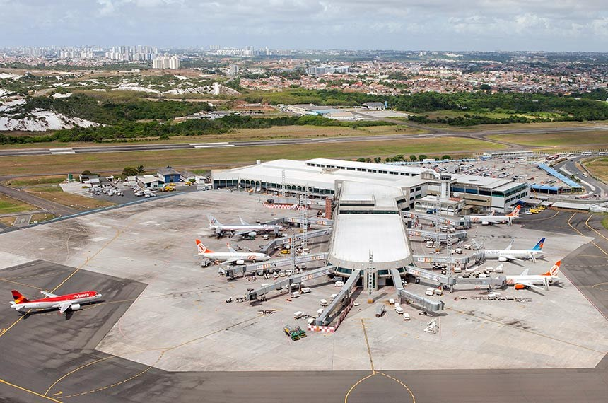 Obras no Aeroporto Internacional de Salvador - Deputado Luís Eduardo Magalhães.