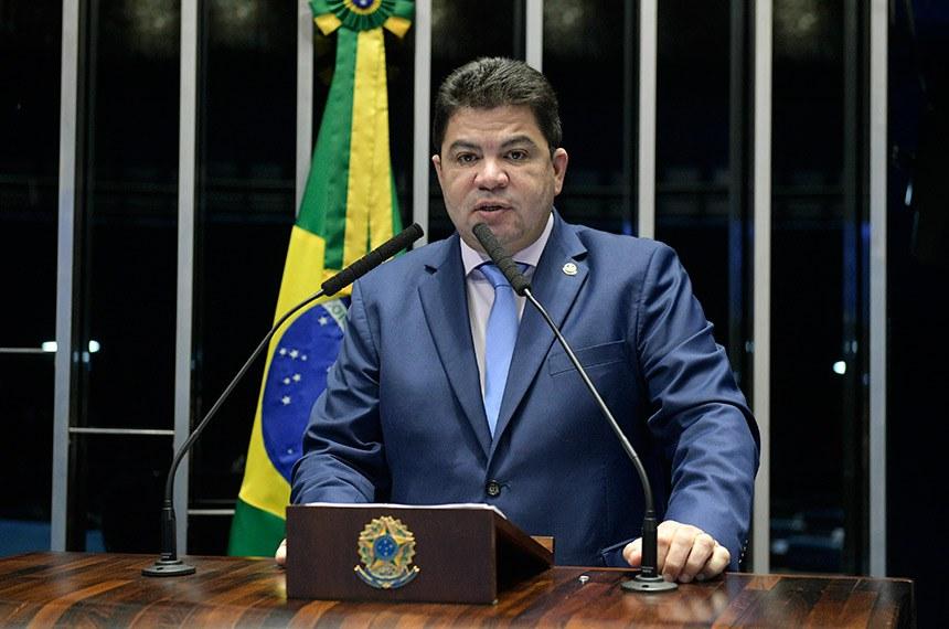Plenário do Senado Federal durante sessão deliberativa extraordinária.  Em discurso, senador Cidinho Santos (PR-MT).   Foto: Pedro França/Agência Senado