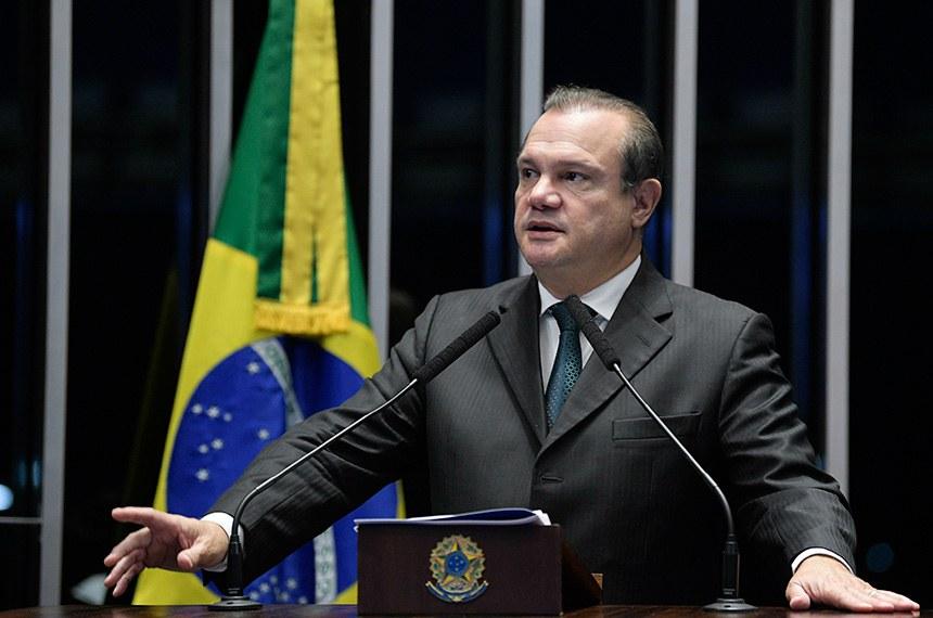 Plenário do Senado Federal durante sessão não deliberativa.   Em discurso, senador Wellington Fagundes (PR-MT).  Foto: Pedro França/Agência Senado