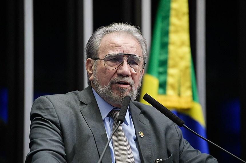 Plenário do Senado Federal durante sessão não deliberativa.   Em discurso, senador Guaracy Silveira (DC-TO).  Foto: Pedro França/Agência Senado