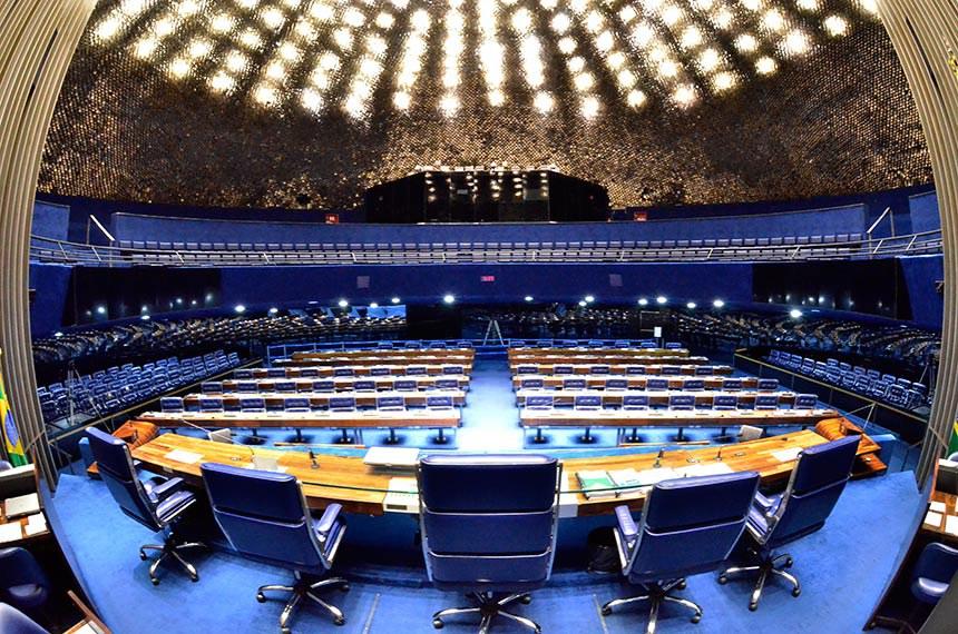 Geral do plenário do Senado Federal.