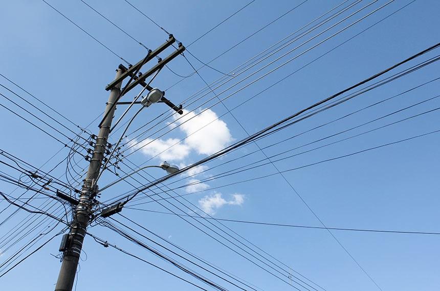 Caos na distribuição da rede de energia elétrica.