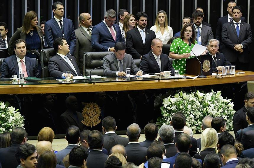 A mensagem presidencial foi lida pela deputada federal Soraya Santos (PR-RJ)