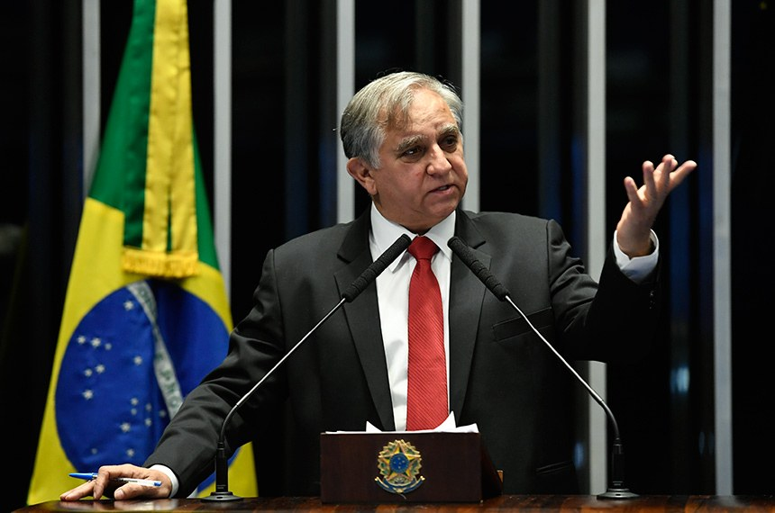Plenário do Senado Federal durante sessão não deliberativa.   Em discurso, à tribuna, senador Izalci (PSDB-DF).  Foto: Edilson Rodrigues/Agência Senado