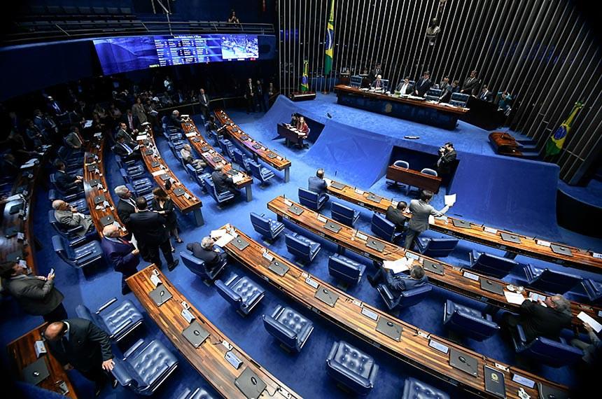 Plenário do Senado durante a sessão que aprovou o acordo que busca incentivar investimentos entre os países, evitando excesso de tributos