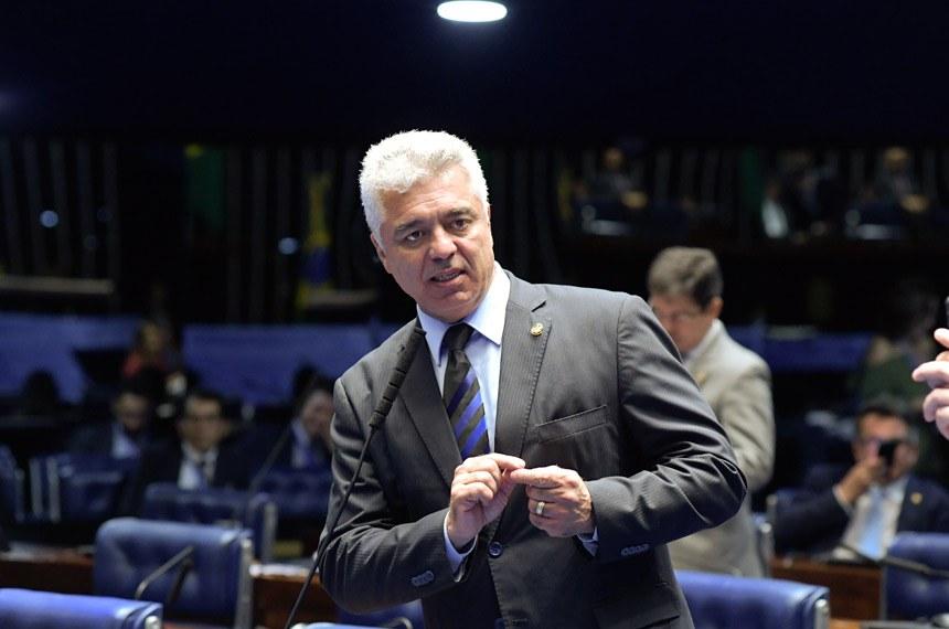 Plenário do Senado Federal durante sessão deliberativa ordinária. Em pronunciamento, senador Major Olimpio (PSL-SP). Foto: Roque de Sá/Agência Senado