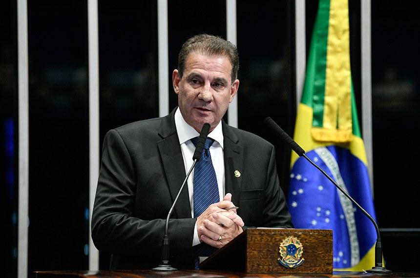 Plenário do Senado Federal durante sessão não deliberativa.   Em discurso, à tribuna, senador Vanderlan Cardoso (PP-GO).  Foto: Pedro França/Agência Senado