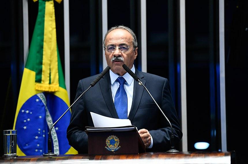 Plenário do Senado Federal durante sessão deliberativa ordinária.   Em discurso, senador Chico Rodrigues (DEM-RR).   Foto: Roque de Sá/Agência Senado