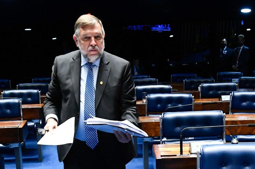 Plenário do Senado Federal durante sessão deliberativa ordinária.   À bancada: senador Reguffe (sem partido-DF); senador Flávio Arns (Rede-PR).  Foto: Roque de Sá/Agência Senado