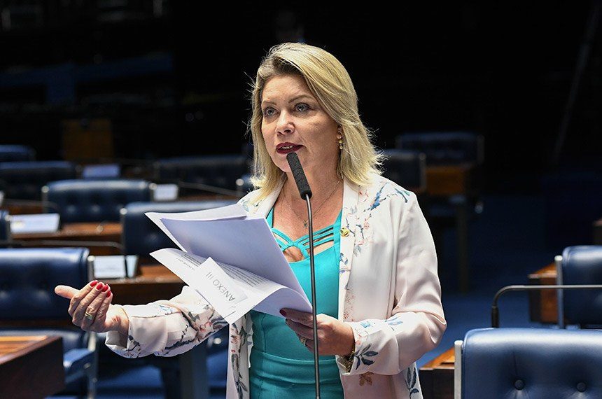 Plenário do Senado Federal durante sessão deliberativa ordinária.   Em pronunciamento, à bancada, senadora Selma Arruda (PSL-MT).  Foto: Jefferson Rudy/Agência Senado