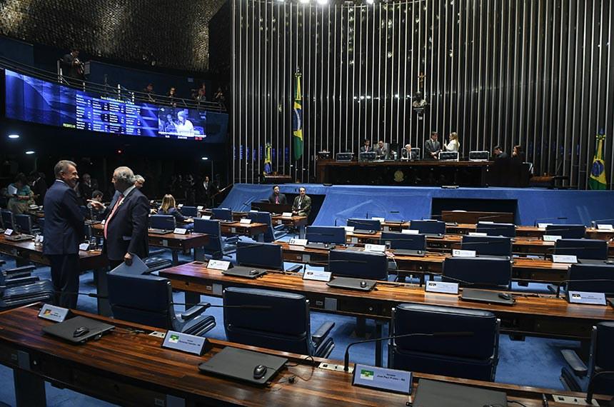 Plenário do Senado Federal durante sessão deliberativa ordinária. Ordem do dia.  Senador Antonio Anastasia (PSDB-MG) à mesa conduz sessão.   Foto: Jefferson Rudy/Agência Senado