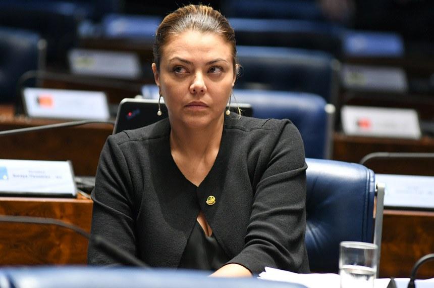 Plenário do Senado Federal durante sessão deliberativa ordinária. Ordem do dia.  Em destaque, senadora Leila Barros (PSB-DF).  Foto: Jefferson Rudy/Agência Senado
