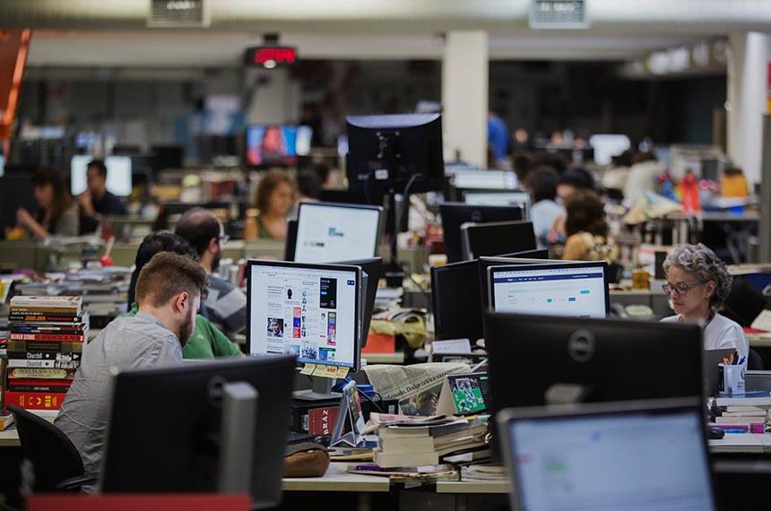 São Paulo, SP. 27/01/2018. Redação da Folha de S. Paulo. ( Foto: Lalo de Almeida/ Folhapress ) TREINAMENTO  *** EXCLUSIVO FOLHA***