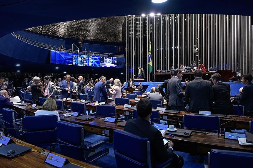 Plenário do Senado Federal durante sessão deliberativa ordinária. Ordem do dia.  À mesa, senador Antonio Anastasia (PSDB-MG) conduz a sessão.  Foto: Waldemir Barreto/Agência Senado
