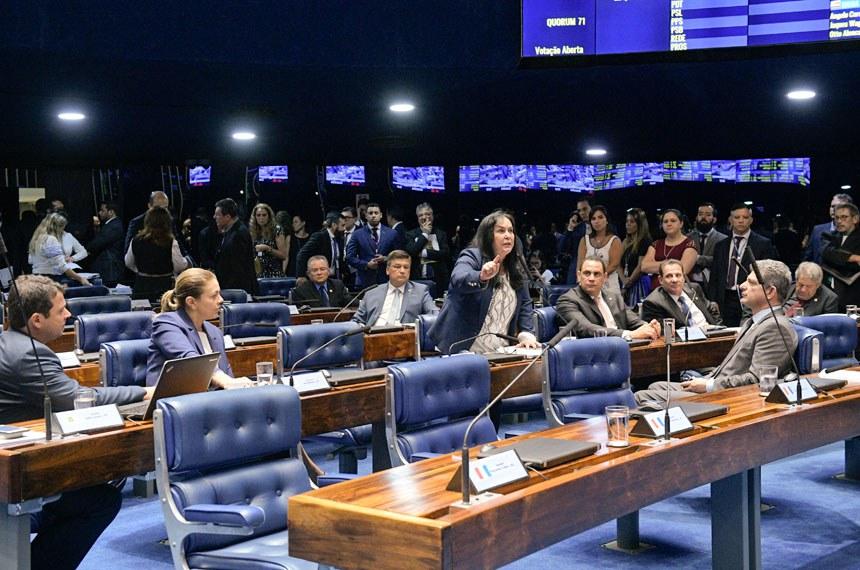 Plenário do Senado Federal durante sessão deliberativa ordinária. Ordem do dia.  Em pronunciamento, à bancada, senadora Rose de Freitas (Pode-ES).  Foto: Roque de Sá/Agência Senado