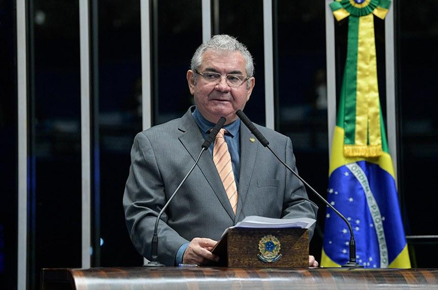 Plenário do Senado Federal durante sessão não deliberativa.   Em discurso, à tribuna, senador Angelo Coronel (PSD-BA).  Foto: Roque de Sá/Agência Senado