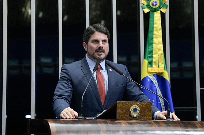Plenário do Senado Federal durante sessão não deliberativa.   Em discurso, à tribuna, senador Marcos do Val (PPS-ES).  Foto: Roque de Sá/Agência Senado