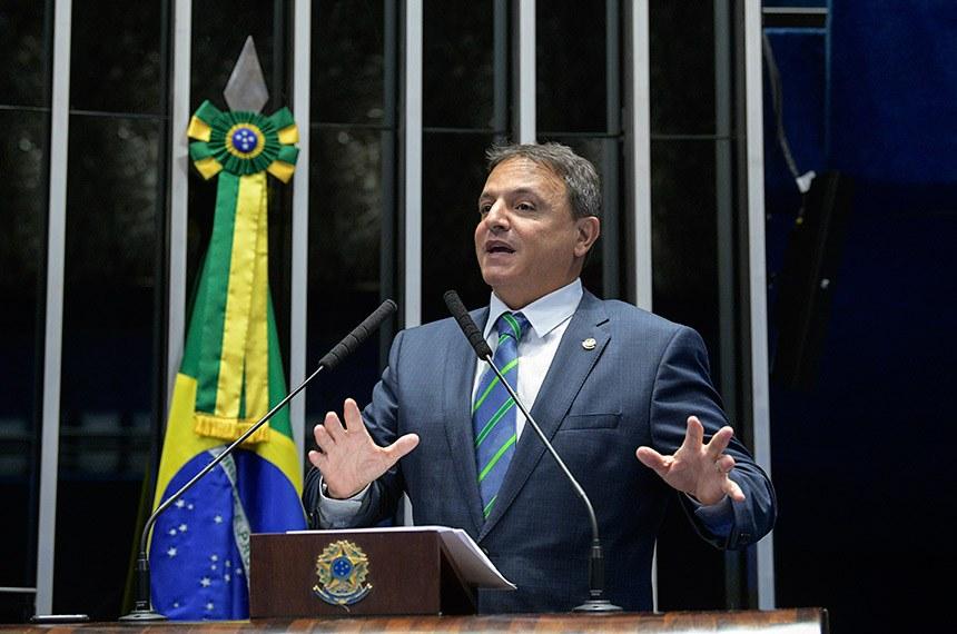 Plenário do Senado Federal durante sessão deliberativa ordinária.   À tribuna, em discurso, senador Marcio Bittar (MDB-AC).   Foto: Roque de Sá/Agência Senado