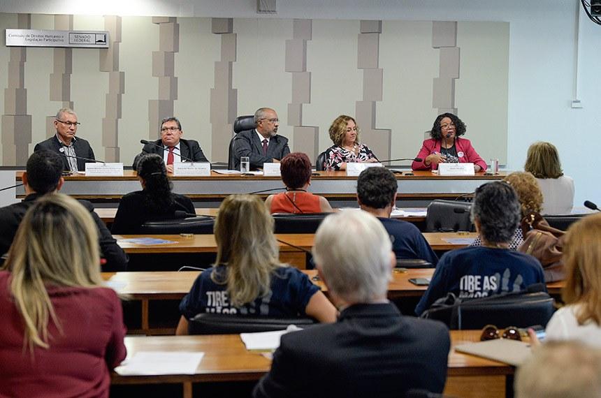 Comissão de Direitos Humanos e Legislação Participativa (CDH) realiza audiência pública interativa para tratar sobre