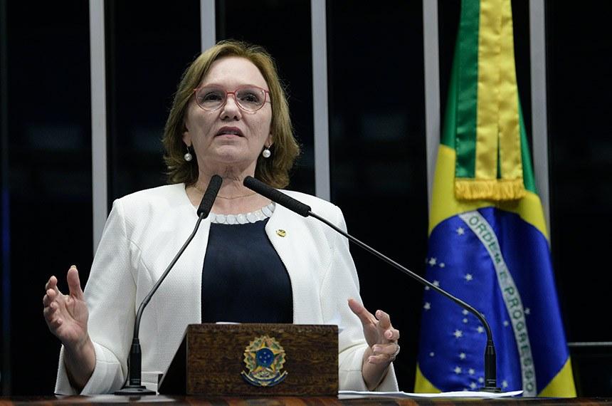 Plenário do Senado Federal durante sessão deliberativa ordinária.   À tribuna, em discurso, senadora Zenaide Maia (Pros-RN).   Foto: Roque de Sá/Agência Senado
