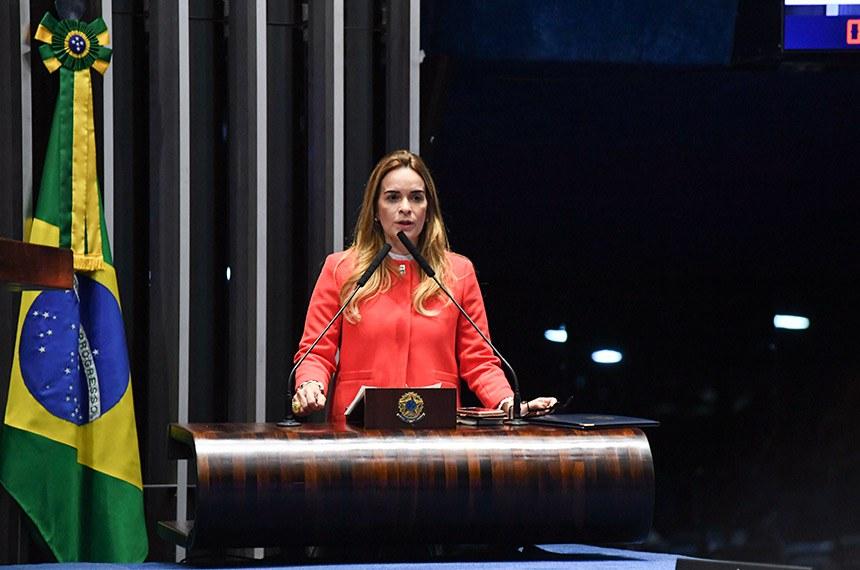 Plenário do Senado Federal durante sessão deliberativa ordinária.   Em discurso, à tribuna, senadora Daniella Ribeiro (PP-PB).  Foto: Jefferson Rudy/Agência Senado