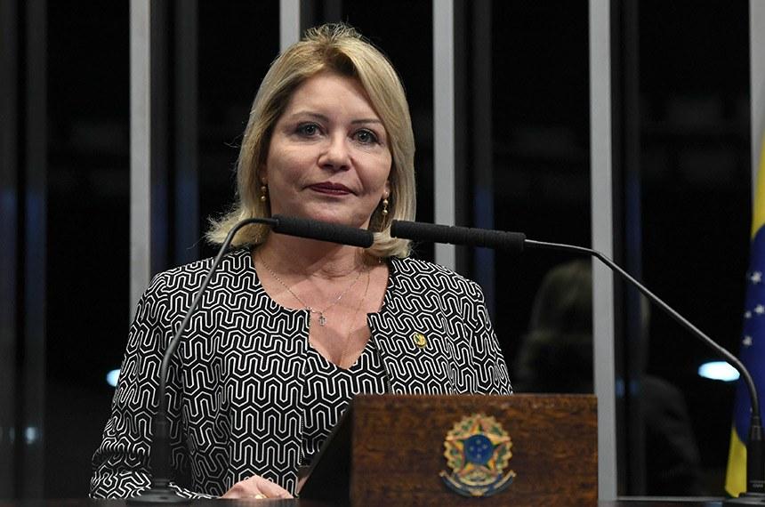 Plenário do Senado Federal durante sessão deliberativa ordinária.   Em discurso, à tribuna, senadora Selma Arruda (PSL-MT).  Foto: Jefferson Rudy/Agência Senado