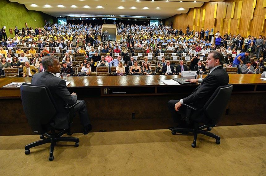 Romário com o presidente do STF, Dias Toffoli