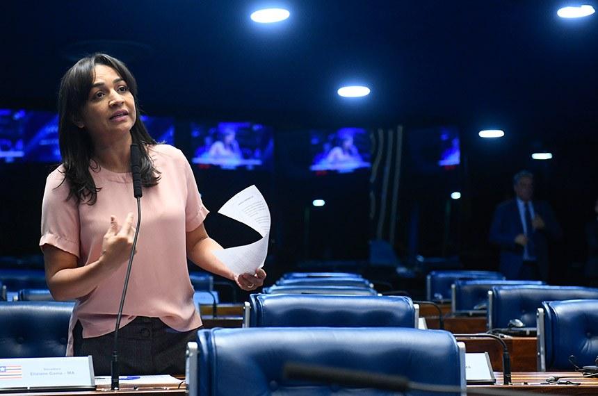 Plenário do Senado Federal durante sessão não deliberativa.   Em pronunciamento, à bancada,  senadora Eliziane Gama (PPS-MA).  Foto: Marcos Oliveira/Agência Senado