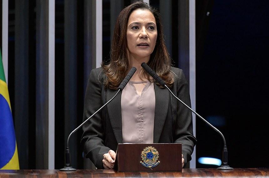 Plenário do Senado Federal durante sessão não deliberativa.   Em discurso, à tribuna, senadora Mailza Gomes (PP-AC).  Foto: Waldemir Barreto/Agência Senado