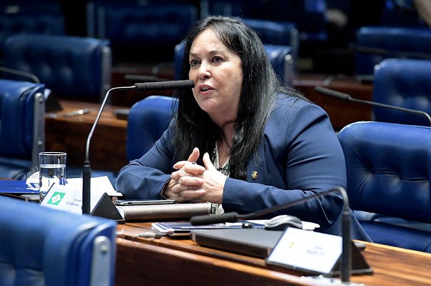 Plenário do Senado Federal durante sessão deliberativa ordinária.   À bancada, em pronunciamento, senadora Rose de Freitas (Pode-ES).  Foto: Waldemir Barreto/Agência Senado