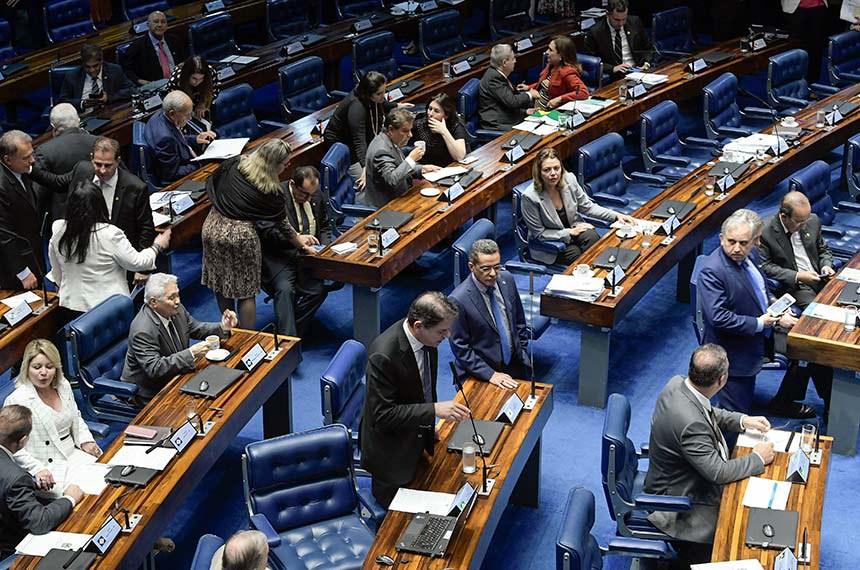 Plenário do Senado Federal durante sessão deliberativa ordinária. Ordem do dia.   Em pronunciamento, à bancada, senador Cid Gomes (PDT-CE).  Foto: Roque de Sá/Agência Senado