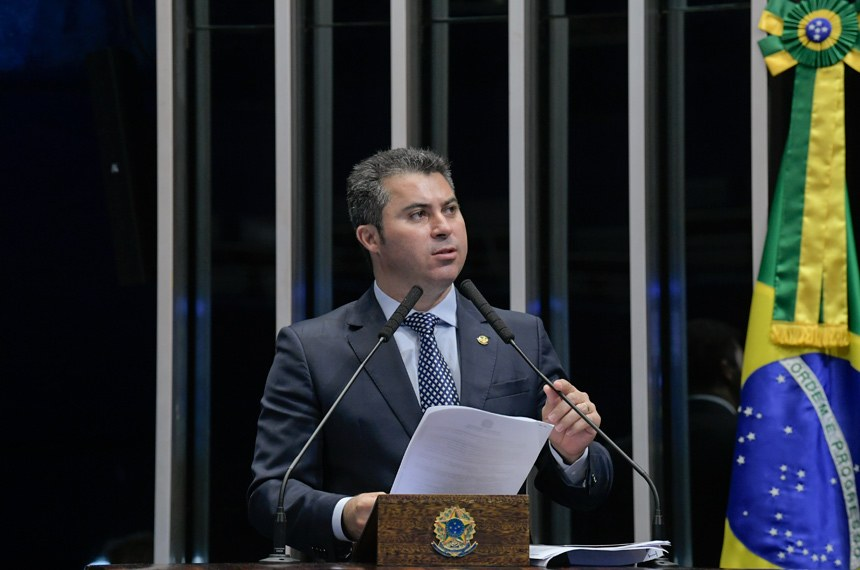 Plenário do Senado Federal durante sessão deliberativa ordinária.   Em pronunciamento à tribuna, senador Marcos Rogério (DEM-RO).  Foto: Roque de Sá/Agência Senado