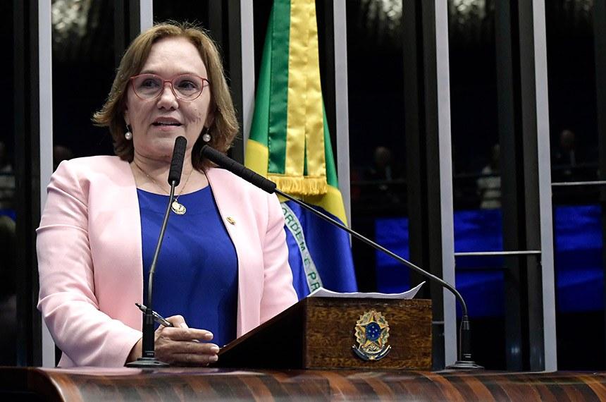 Plenário do Senado Federal durante sessão deliberativa ordinária.   Em discurso, senadora Eliziane Gama (PPS-MA).  Foto: Waldemir Barreto/Agência Senado