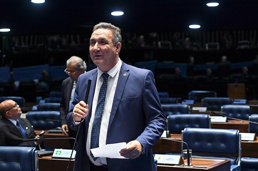 Plenário do Senado Federal durante sessão deliberativa ordinária.   Em pronunciamento, senador Lucas Barreto (PSD-AP).  Foto: Jefferson Rudy/Agência Senado