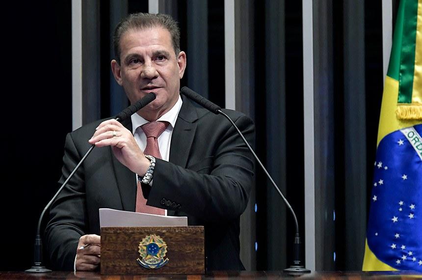 Plenário do Senado Federal durante sessão deliberativa ordinária.   Em discurso, à tribuna, senador Vanderlan Cardoso (PP-GO).  Foto: Waldemir Barreto/Agência Senado