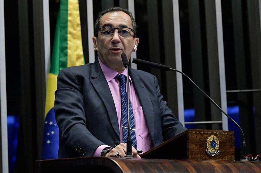 Plenário do Senado Federal durante sessão deliberativa ordinária.   À tribuna, em discurso, senador Jorge Kajuru (PSB-GO).  Foto: Waldemir Barreto/Agência Senado