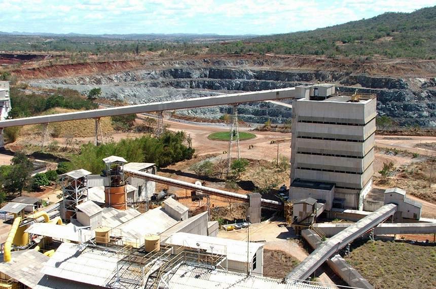 Área de mineração de amianto em Minaçu, Goiás, que receberá a visita de comissão temporária externa e do presidente da Casa, Davi Alcolumbre, neste sábado