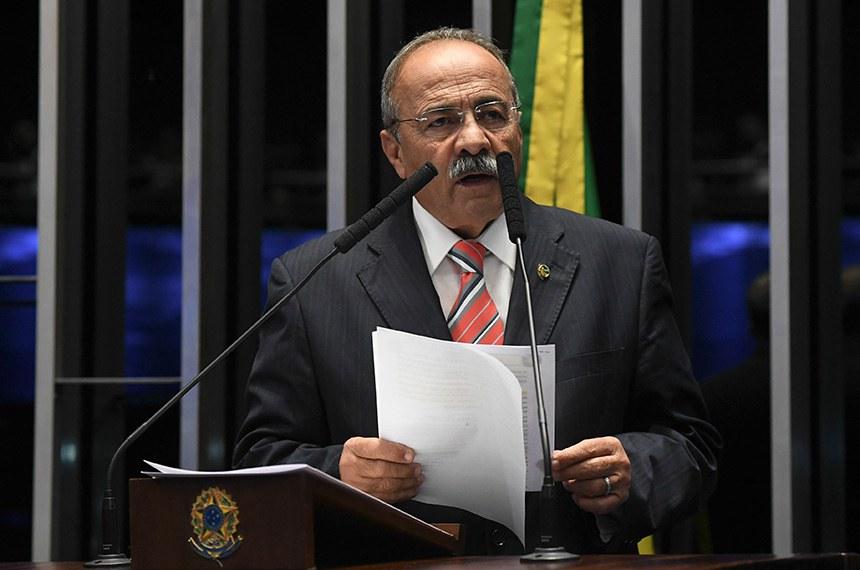 Plenário do Senado Federal durante sessão não deliberativa.   Em pronunciamento, senador Chico Rodrigues (DEM-RR).  Foto: Jefferson Rudy/Agência Senado
