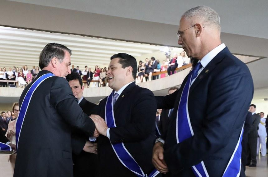 (Brasília - DF, 03/05/2019) Presidente da República, Jair Bolsonaro durante Cerimônia de Imposição de Insígnias da Ordem do Rio Branco. Foto: Marcos Corrêa/PR