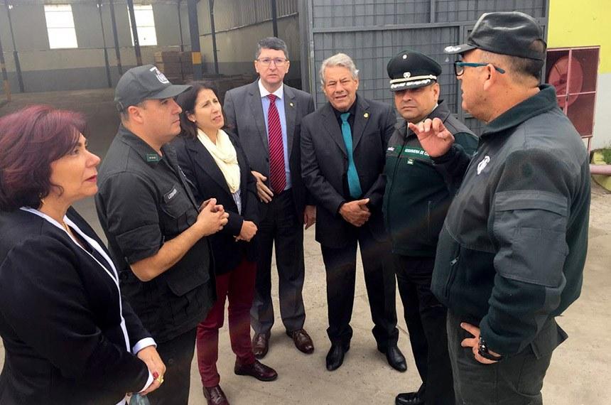 O senador Luiz do Carmo (MDB-GO) esteve em missão oficial do Senado, nos dias 2 e 3 de maio, em Santiago, capital do Chile, para conhecer o sistema de segurança pública daquele país.
