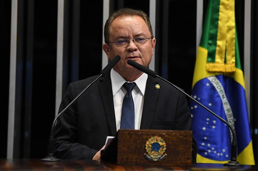 Plenário do Senado Federal durante sessão deliberativa ordinária.   Em discurso à tribuna, senador Zequinha Marinho (PSC-PA).  Foto: Jefferson Rudy/Agência Senado